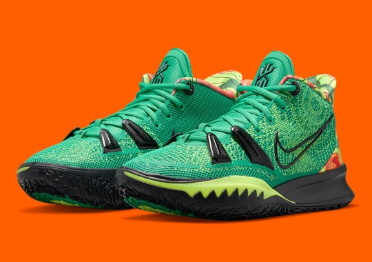 "Kyrie Irving Borrows From Teammate Kevin Durant With Upcoming Kyrie 7 ""Weatherman"""