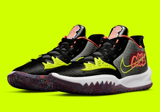 The Nike Kyrie Low 4 Debuts In Wild Multi-Colored Soles