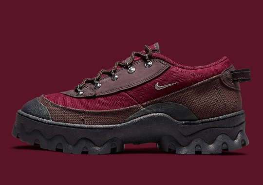 "The Hemp-Laden Nike Lahar Low Appears In ""Madeira/Dark Beetroot"""
