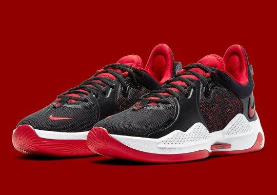 Paul George's Nike PG 5 Appears In A Standard Black/Red