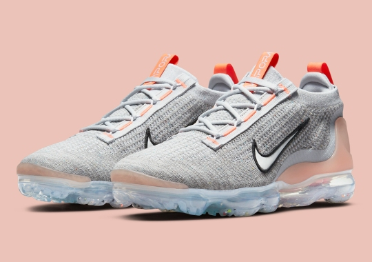 The Women's Nike Vapormax Flyknit 2021 Emerges In Grey And Pink Shades