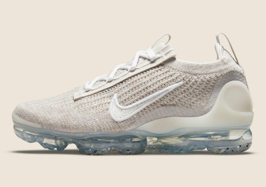 The Nike Vapormax Flyknit 2021 Covered In Oatmeal Tan