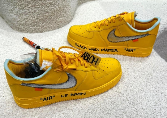 Virgil Abloh's Signed Off-White x Nike Air Force 1 Low For LeBron James Includes Black Lives Matter Tribute