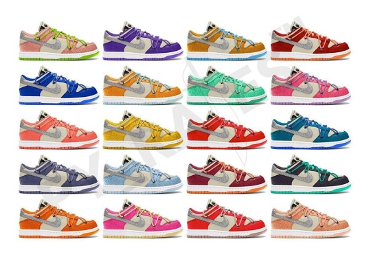 Virgil Abloh And Nike Rumored To Drop 20 Off-White Dunks This Fall 2021