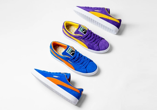 PUMA Revives The Classic Knicks/Lakers Rivalry With The Suede Vintage