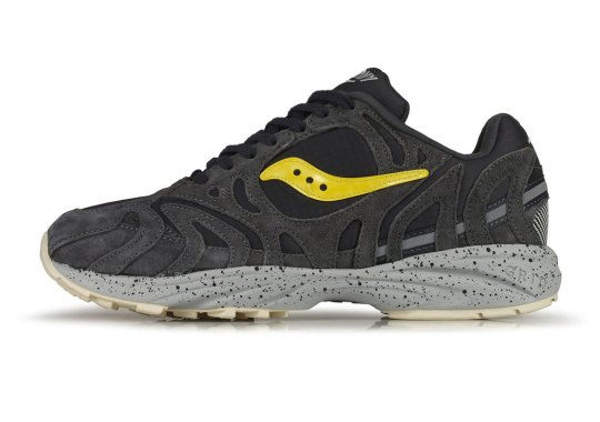 "The Saucony Grid Azura 2000 Appears In A Rocky ""Asphalt"" Look"