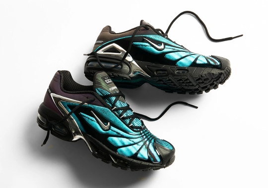 "Where To Buy The Skepta x Nike Air Max Tailwind V ""Chrome Blue"""
