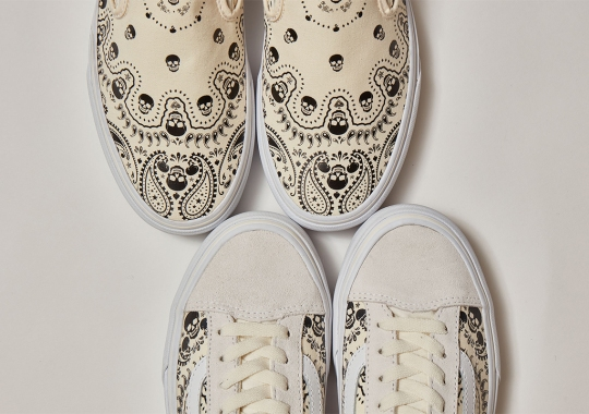 """BILLY'S Tokyo To Drop Exclusive Vans """"Bandana"""" Pack Laced With Skulls"""
