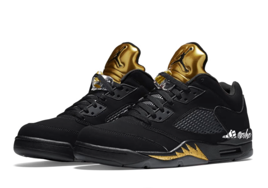 "A ""Black/Metallic Gold"" Air Jordan 5 Low Is Set To Release In May"