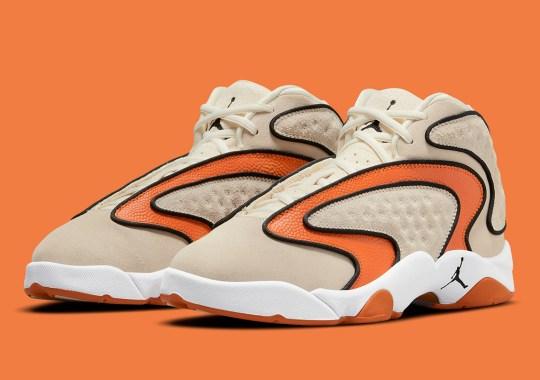 The Air Jordan Womens OG Returns In Coconut Milk And Orange Basketball Leather