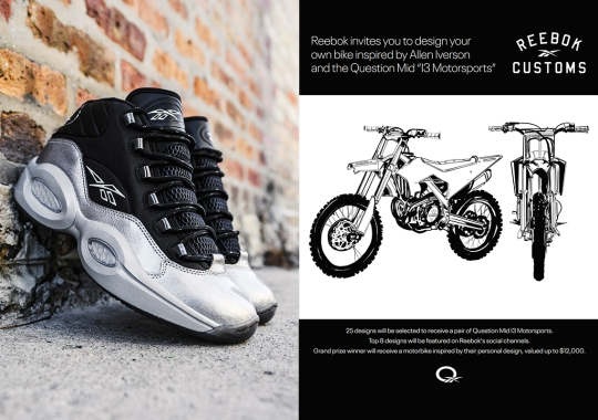 """You Could Win Your Dream Motorbike Through Allen Iverson's """"Reebok Customs"""" Campaign"""