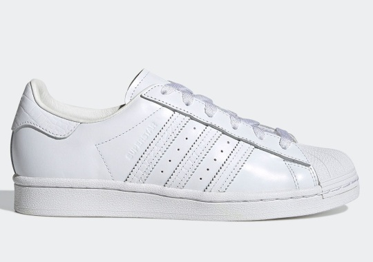 BEAMS Brings All-White Premium Leather And Croc To The adidas Superstar