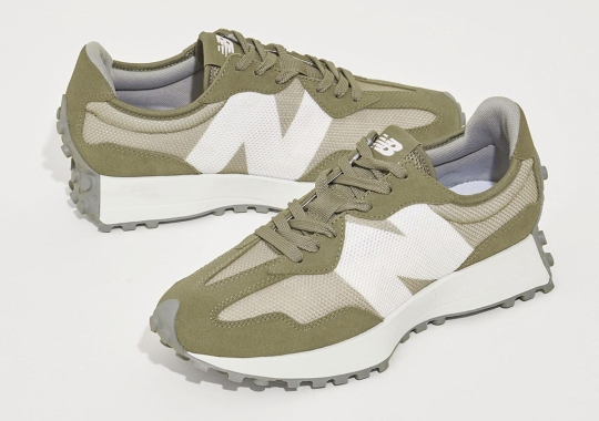 Beauty & Youth Offers Olive Suede And Mesh On Their New Balance 327