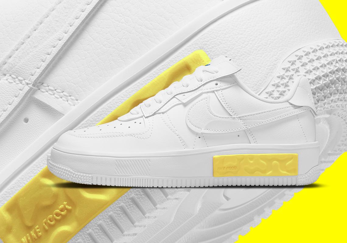 Nike Air Force 1 Fontanka White Yellow DA7024-101 | SneakerNews.com