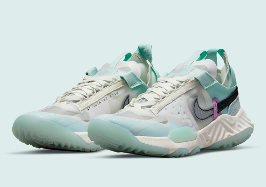 """The Jordan Delta Breathe Delivers Another Women's Exclusive """"Sea Glass"""" Colorway"""