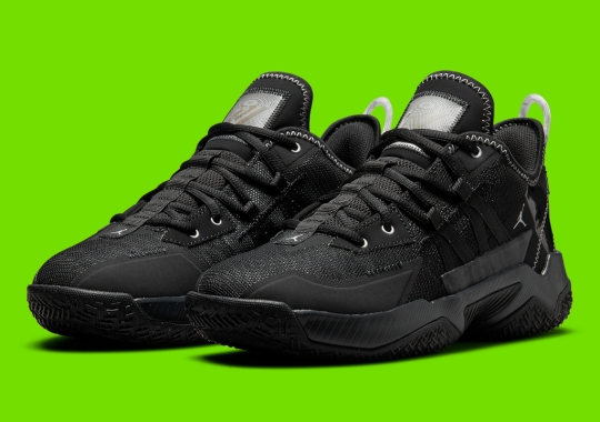 The Jordan Westbrook One Take II Goes All Black With White Rope Pulltabs