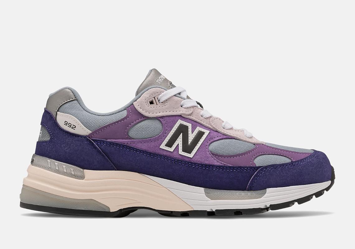 New Balance 992 Grey Purple M992AA Release   SneakerNews.com