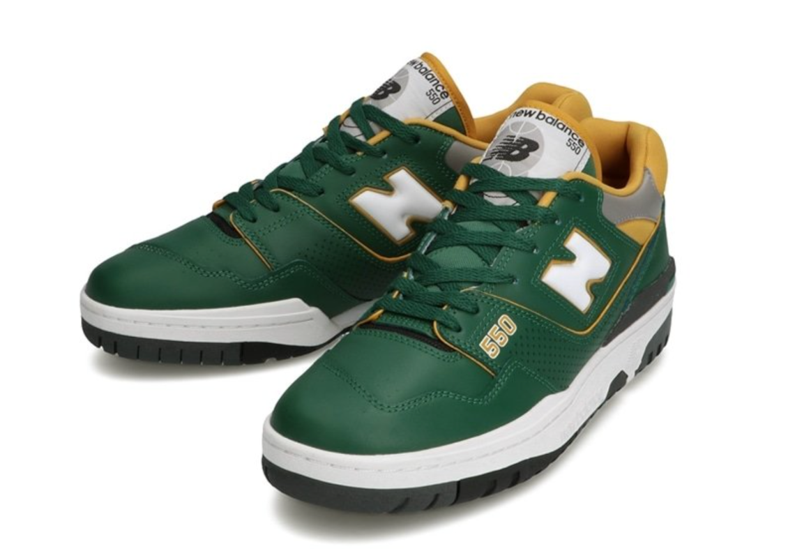 After Aimé Leon Dore, The New Balance 550 Reappears In Green And Yellow