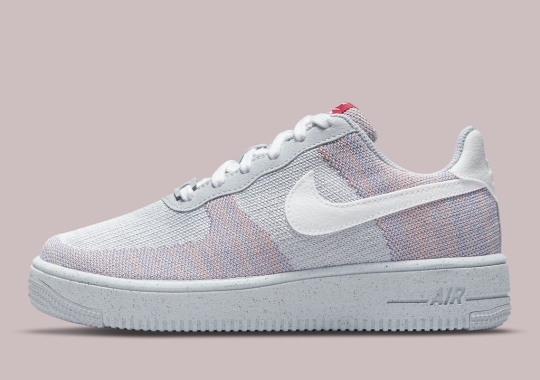 Wolf Grey And Gym Red Cover The Nike Air Force 1 Crater Flyknit