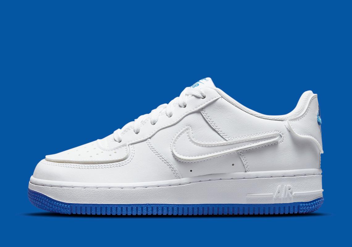 air force 1 swoosh blu