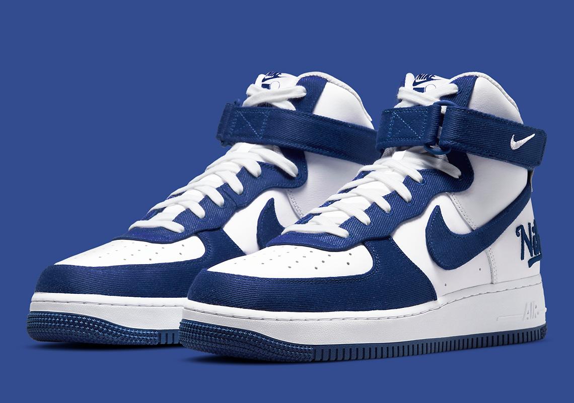 Nike Air Force 1 High Dodgers DC8168-100 | SneakerNews.com
