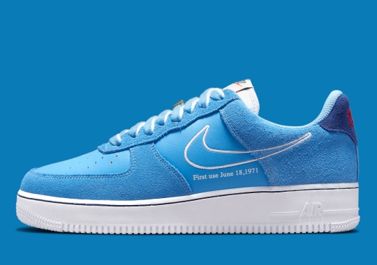 """The Retro-Themed Nike Air Force 1 """"First Use"""" Appears In Lush Shades Of Blue"""
