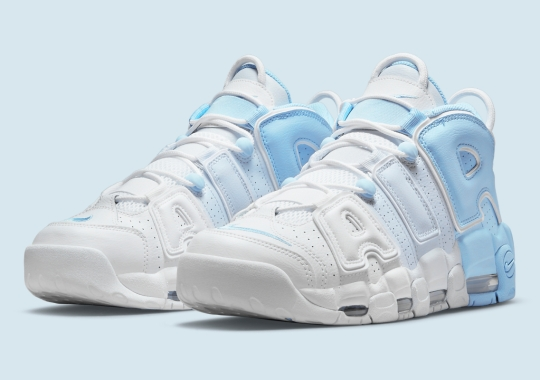 """The Nike Air More Uptempo Appears In A """"Psychic Blue"""" Color-Blocking"""