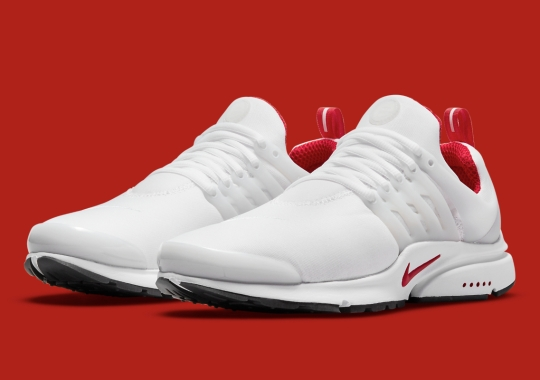 The Nike Air Presto Continues It Clean T-Shirt Look In White And Red