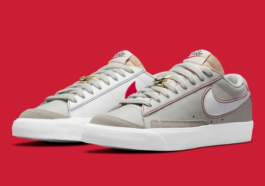 Nike Continues Its Swoosh Education With This Mismatched Blazer Low '77