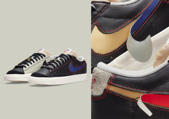 Another Swoosh-Commemorating Nike Blazer Low '77 Appears With Removable Logos