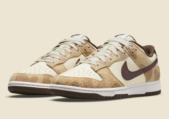 "Giraffe Prints Dress Up The Upcoming Nike Dunk Low ""Animal Pack"""
