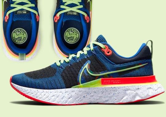 "Vibrant Neons Appear On The Nike Infinity React Run 2 Flyknit ""Run Past The Future"""