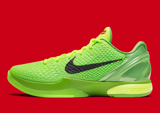 "Nike SNKRS Restocks Kobe 6 ""Grinch"" On 5th Anniversary Of 60 Point Final Game"