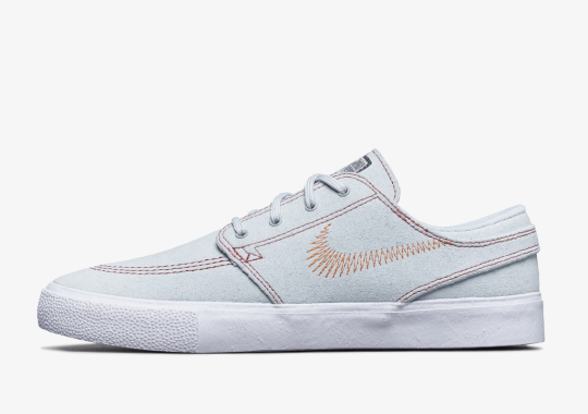 The Nike SB Janoski Flyleather Adds Contrast Embroidery On The Upper
