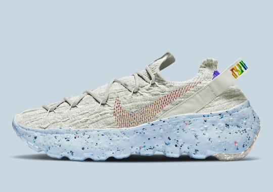 The Nike Space Hippie 04 Adds Rainbow Colored Detailing