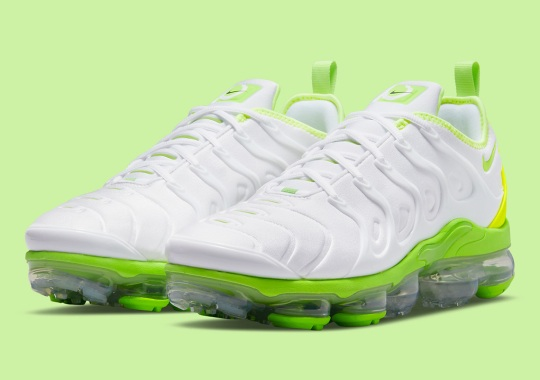 Nike Adds Contrasting Neons To A Clean White Vapormax Plus