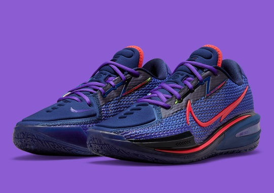 The Nike Zoom GT Cut Appears In A Dark Navy And Red Mix