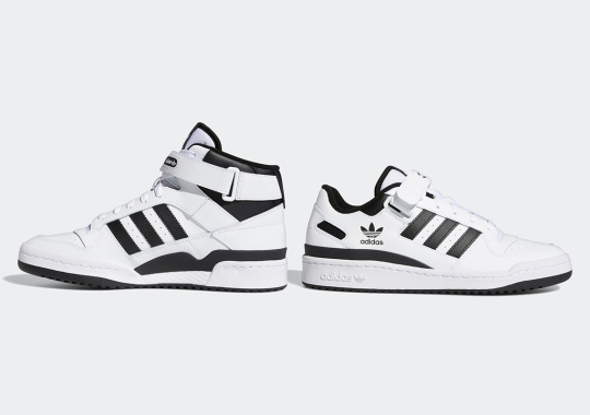 Keep It Simple With This Latest adidas Forum Set In White/Black