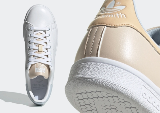 """The adidas Stan Smith """"Halo Ivory"""" Pack Adds Seasonal Tints To An All-Leather Look"""