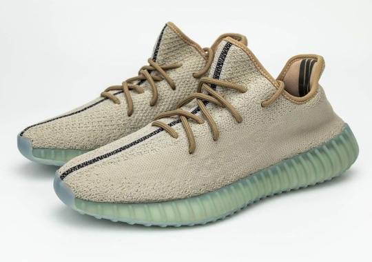 A New adidas Yeezy Boost 350 v2 Style Emerges With New Stitch Detail And Green Soles