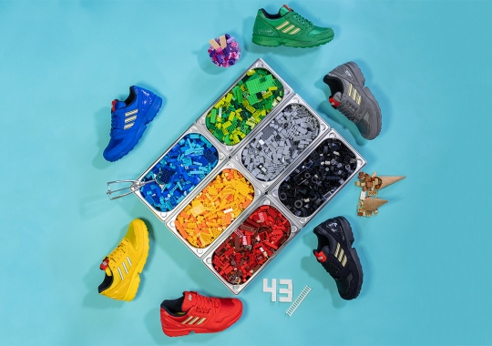 The 6-Piece LEGO x adidas ZX 8000 Collection Releases On April 23rd