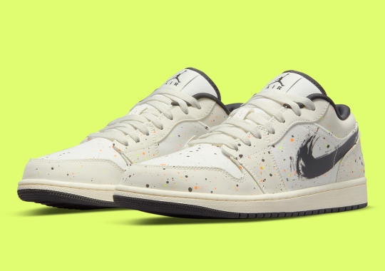 Paint Splatters And Brushstrokes Appear On The Air Jordan 1 Low