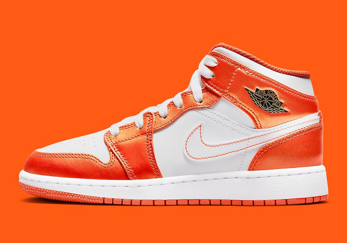 Air Jordan 1 Mid Metallic Orange DM4228-800 | SneakerNews.com