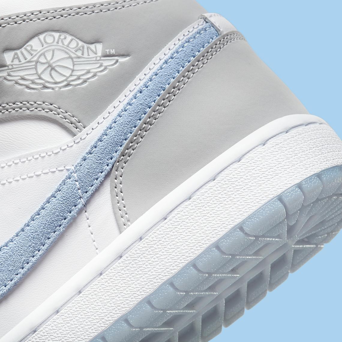 Air Jordan 1 Mid Womens Grey Blue BQ6472-105   SneakerNews.com