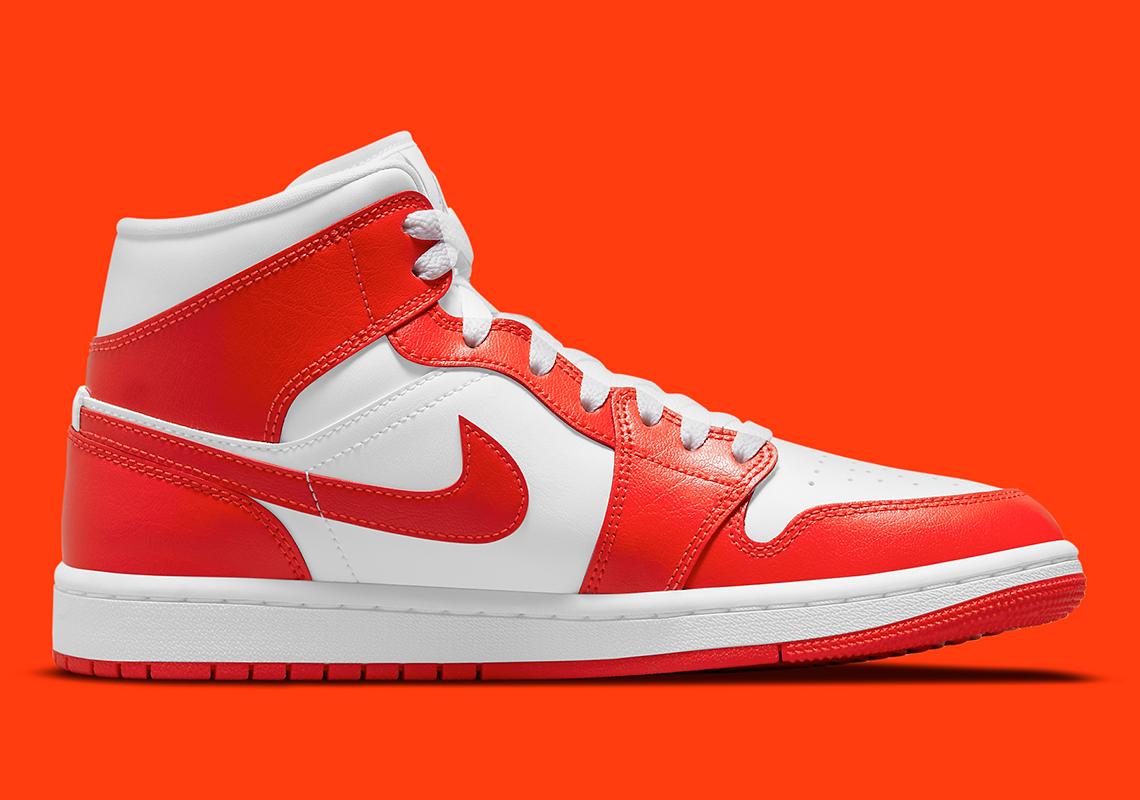 Air Jordan 1 Mid Womens Orange White BQ6472-116   SneakerNews.com