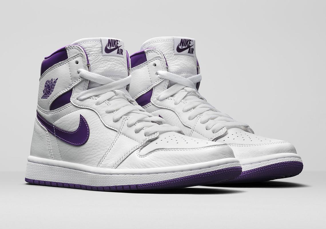 Air Jordan 1 High White/Court Purple CD0461-151 | SneakerNews.com