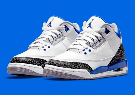 "Official Images Of The Air Jordan 3 GS ""Racer Blue"""