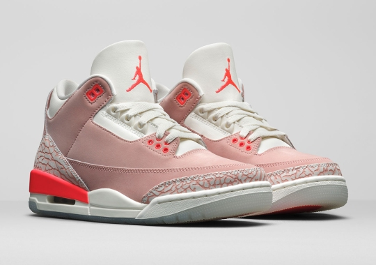 """The Air Jordan 3 Retro WMNS """"Rust Pink"""" Is Officially Unveiled"""