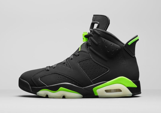 "The Air Jordan 6 ""Electric Green""  Features Glow-In-The-Dark Outsoles"