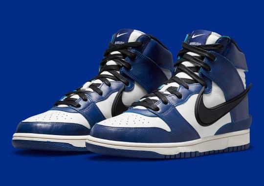 "Official Images Of The AMBUSH x Nike Dunk High ""Deep Royal Blue"""